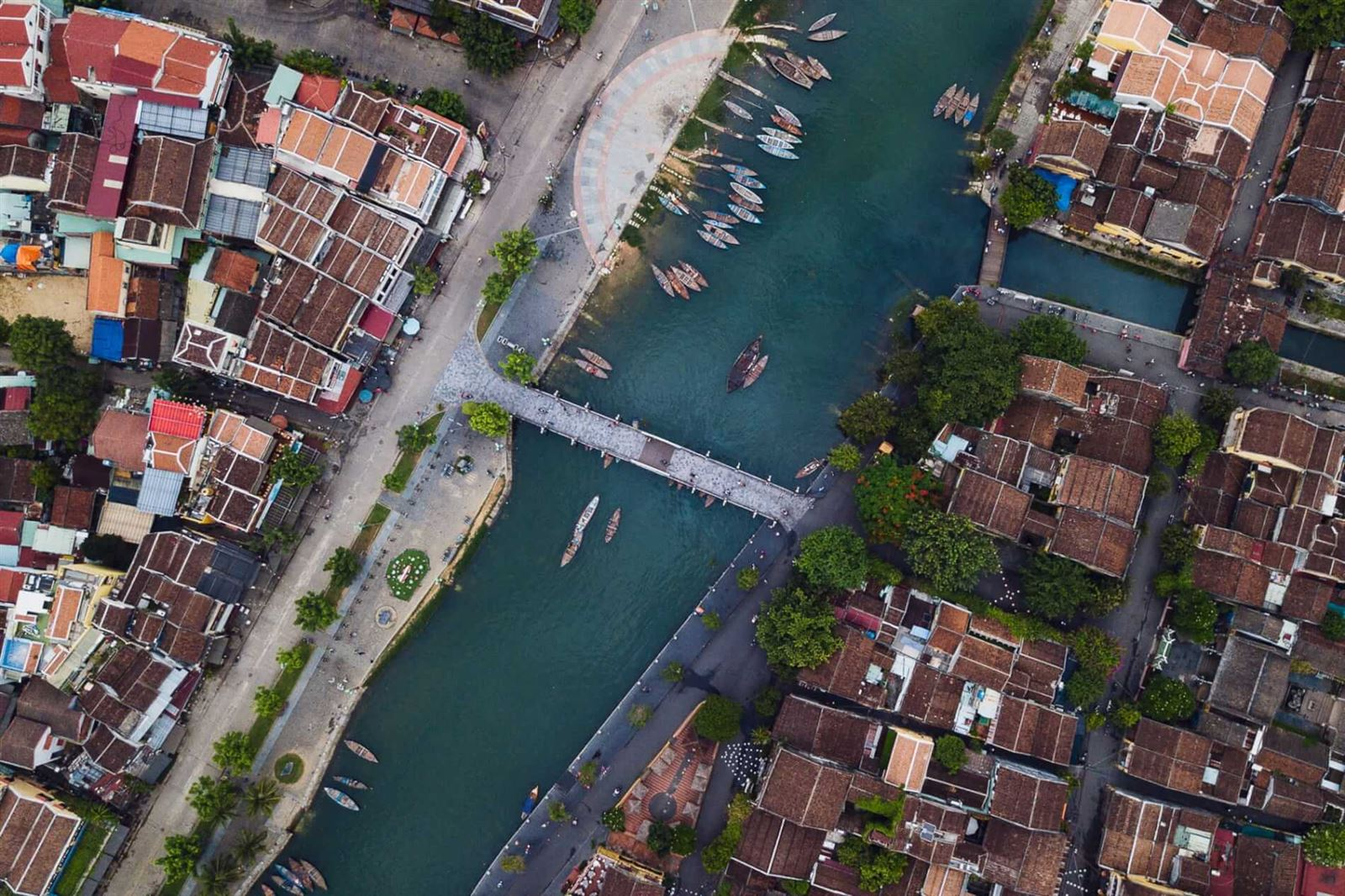 hoi an ancient town from the sky