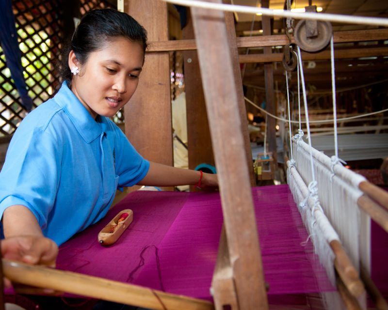 Silk farm in siem reap